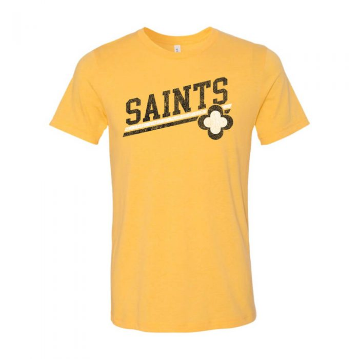 Design #2 Heather Yellow Gold Tee Front