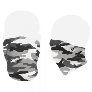 White Camo face mask
